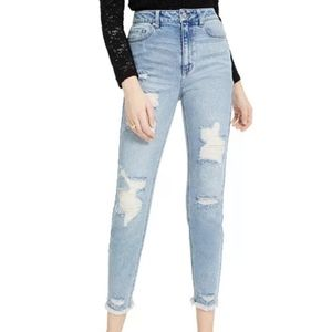 Tinseltown light wash Distressed Mom jeans size 1